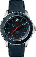 Ice-Watch BMW Motorsport Black Dial Blue Leather Mens 43 mm Watch BM.BLB.U.L.14