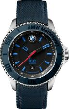 Ice-Watch BMW Motorsport Black Dial Blue Leather Mens 43 mm Watch BM.BLB.U.L.14