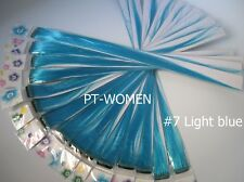 HAIR SHINING EXTENSION   HIGHLIGHT RAINBOW 10 pieeces light blue