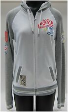 Harley Davidson Ladies Hoodie Size S-Small Long Sleeve Zipper, Front, White-Grey