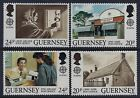 1990 GUERNSEY EUROPA: POST OFFICES SET OF 4 FINE MINT MNH/MUH