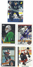 Mike Liut Signed / Autographed Hockey Card Hartford Whalers 1987 Topps