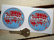 "TRIUMPH Classic Globe Car Stickers 3"" Pair TR2 3 4 5 6 Spitfire Stag Rally Race"