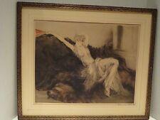 "LOUIS ICART ORIGINAL ETCHING ""LAZINESS"" 1925"