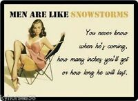 Funny Humor Men Are Like Snowstorms Refrigerator Magnet