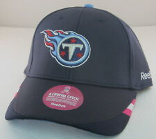 NFL Tennessee Titans Blue Breast Cancer Awareness Adjustable Hat By Reebok
