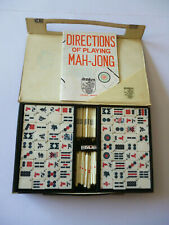 Vintage Dragon Mah-Jong Set 144 Tiles - In Carrying Case + English Instructions