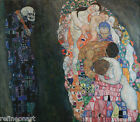 Death and life by Gustav Klimt Giclee Canvas Print