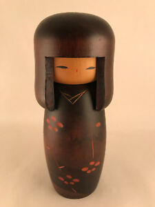 16cm Japanese doll by Usaburo - Made in Japan - Wooden Handmade