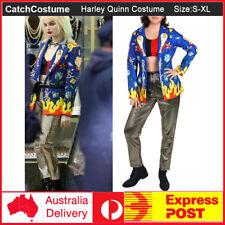 Birds of Prey Cosplay Harley Quinn Jacket Suit Coat Pants Vest Costume Halloween