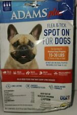 Adams Plus Flea And Tick Spot On For Dogs, Md Dog 15-30 Pounds, 3 Month Supply