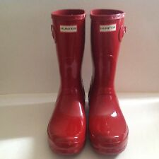Hunter Original Short Rain Boots Red Size 11