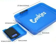 More details for cookies glow led free weighing scales light up rechargeable smoking rolling tray