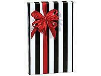 "Black White Stripe 24""x85' Gift Wrap Wholesale Packaging Wrapping Paper Roll"