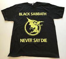 Black Sabbath Never Say Die 2012 T-Shirt, Black, Size Large