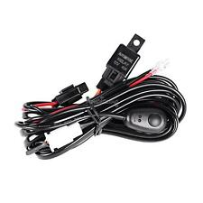 LED FOG HID Work Offroad Driving light Wiring Harness Kits 12V 40A Switch Relay