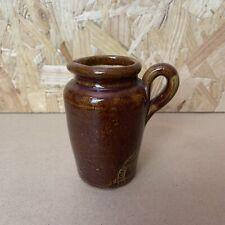 Vintage Treacle Glaze Marden Brand Western Counties Creameries Pottery Jug 10cm