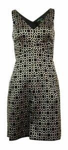 Lauren Ralph Lauren Dress Black Metallic Cocktail Party Size AU14 US10