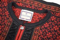 Dale of Norway Wool Women's Sweater Size Medium in Red, Orange and Black