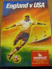 07/09/1994 England v United States Of America [At Wembley] (Staple Holes). Footy