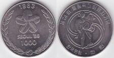 Süd-Korea 1000 Won 1983 Olympiade Seoul Trommlerin in Nationaltracht Cu-Ni
