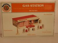 Bachmann Plasticville Texaco Gas Station 45174 HO Scale Easy Assemble SEALED