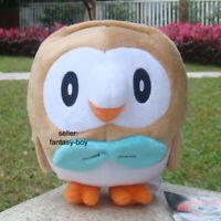 "Rowlet Plush Toy Stuffed Animal Cartoon Soft Doll 7.5"""