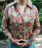 BNWT FAT FACE Size 14 Ladies Floral COTTON Blouse Top HAYLING Long Sleeved Shirt