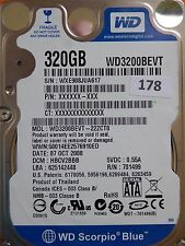 320GB Western Digital WD3200BEVT-22ZCT0 | DCM: HBCV2BBB | 07 OCT 2008 | #178