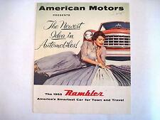 1955 Rambler Advertising Expandable Booklet Presented by American Motors *