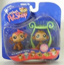 L1 Littlest Pet Shop boy & girl monkeys with jungle gym  new in pack