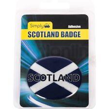 Simply Adhesive Scotland Flag 3D Badge Plate Sticker Oval Resin Gel European