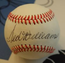 TED WILLIAMS -- SIGNED BABE RUTH HALL OF FAME BASEBALL -- JSA AUTHENTICATED