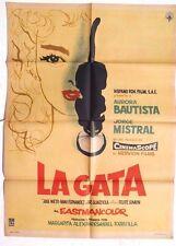 Vtg Mexican Movie Poster 1956 La Gata (Jose Nieto / Nani Fernandez)