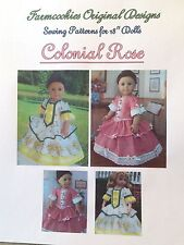 SEWING PATTERN for American Girl Doll by Farmcookies / COLONIAL ROSE