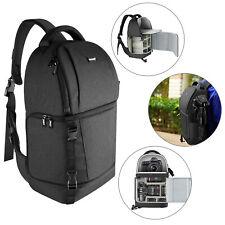 Black Sling Camera Bag Camera Case Backpack with Padded Dividers for DSLR