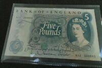 £5 HOLLAM CHILD BRITANNIA FIRST RUN A07 852110 AUNC
