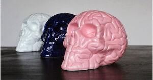 Emilio Garcia -  Porcelain Skull Brain-  KAWS Kolin.Tribu black pink blue white