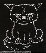 Grumpy Cat Rhinestone Iron on Transfer    O0TP