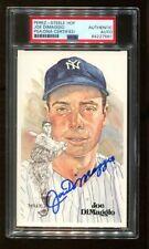Joe DiMaggio Signed Perez-Steele HOF Postcard Autographed Yankees PSA/DNA