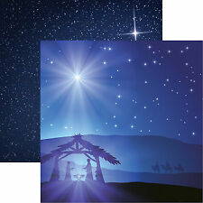 Reminisce O HOLY NIGHT 12x12 Dbl-Sided (2pc) Scrapbooking Paper NATIVITY