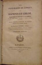 LES PASTORALES DE LONGUS OU DAPHNIS ET CHLOE - Jacques AMYOT - 1821