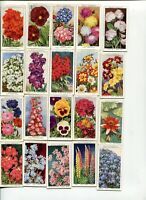 1939 W.D. & H.O. WILLS CIGARETTES GARDEN FLOWERS 34 DIFFERENT COLLECTOR CARD LOT