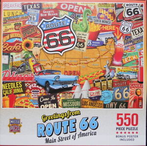 Greetings from Route 66: Main Street of America - 550pc MasterPieces Jigsaw