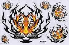 "D408 Tiger Wild Racing Tuning Sticker Decal 1 Sheet 10,5""x7"" / 27x18 cm"