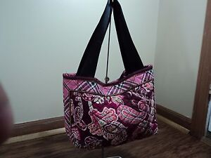 Vera Bradley Piccadilly Plum Mini Tote, Retired Pattern, CHARMING, GREAT INTRO