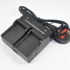 Dual Battery Charger for Canon LP-E8 LC-E8E EOS 550D 600D 650D 700D X4 T5i T3i