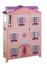 """New New York  Mansion 3 Story 47"""" H Pink Doll House & Dollhouse Furniture"""