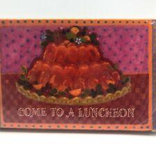 Vintage Luncheon Party Invitations Jello Mold Hallmark Pack of 8
