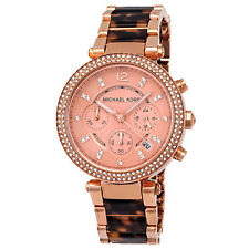 Michael Kors Parker Chronograph Rose Gold Acetate Women's Watch MK5538